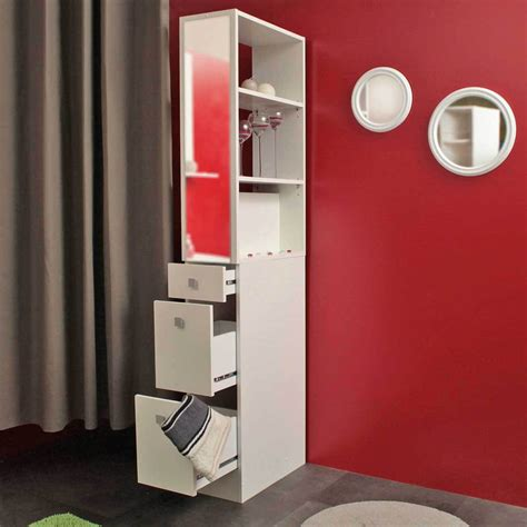 avis eco cuisine colonne salle de bain 3 tiroirs 1 miroir blanc