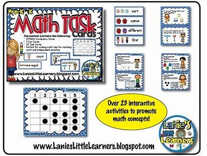 Math Task Cards Pre Printables Prek