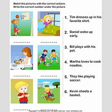 Match The Sentences To Pictures Worksheet  Turtle Diary