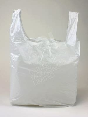 white vest carrier bags polythene shopping bag