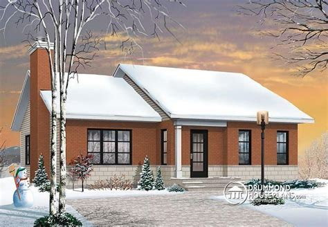 W3147   Small affordable modern ranch style house plan