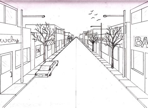 Main Street 1 Point Perspective By Merrilynthepirate On Deviantart