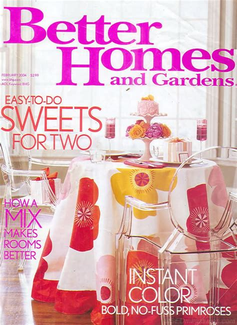 better homes and gardens past issues backissues com better homes and gardens february 2004 product details