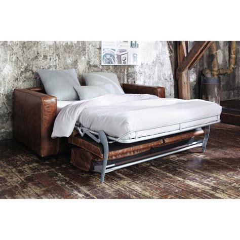 canape cuir vieilli vintage maisons du monde meuble décoration luminaire et canapé