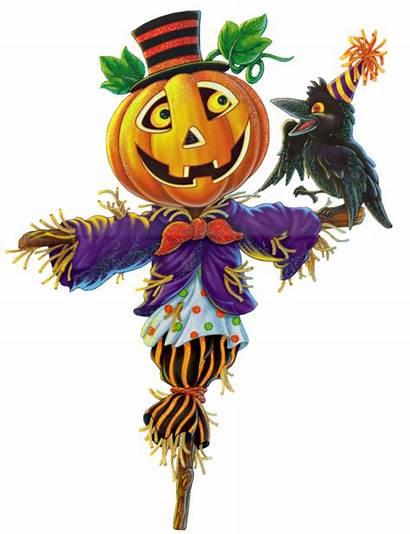 Scarecrow Clip Halloween Pumpkin Clipart Fall Scarecrows