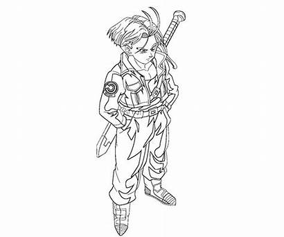 Trunks Future Coloring Pages Printable Teenager Random