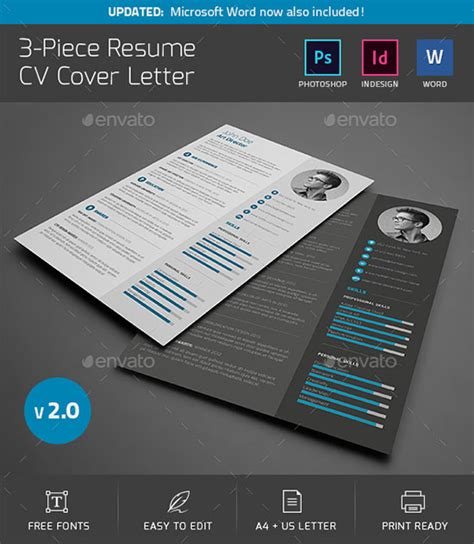 Buy Cv Template by 10 All Time Best Premium Simple Infographic Resume Cv