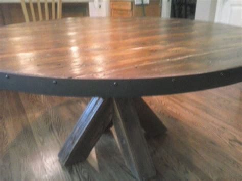 hand  barn wood kitchen table  jays custom woodwork