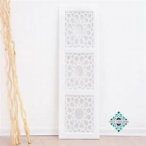 Panneau Mural Decoratif Pas Cher : panneau mural oriental blanc en bois sculpt kazba d co ~ Edinachiropracticcenter.com Idées de Décoration