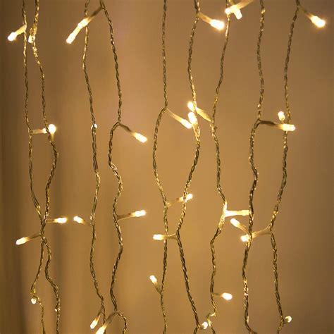 white curtain string light set