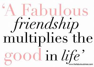 The Importance of Friends - The Fabulous Times