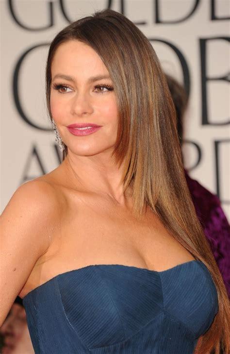 sofia vergara long sleek hairstyles for women