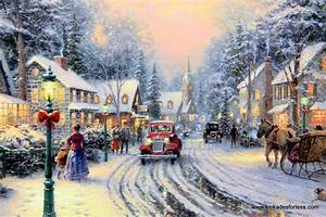 Thomas Kinkade Christmas Wallpapers - WallpaperSafari