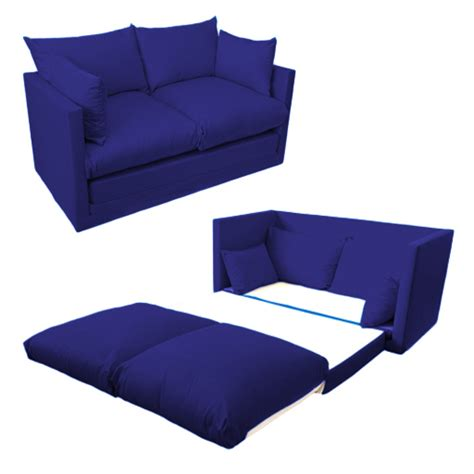 Fold Out 2 Seater Kids Teens Sofa Sofabed Guest Bed Futon