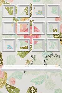 Creative floral iPhone home screen wallpaper with frames ...