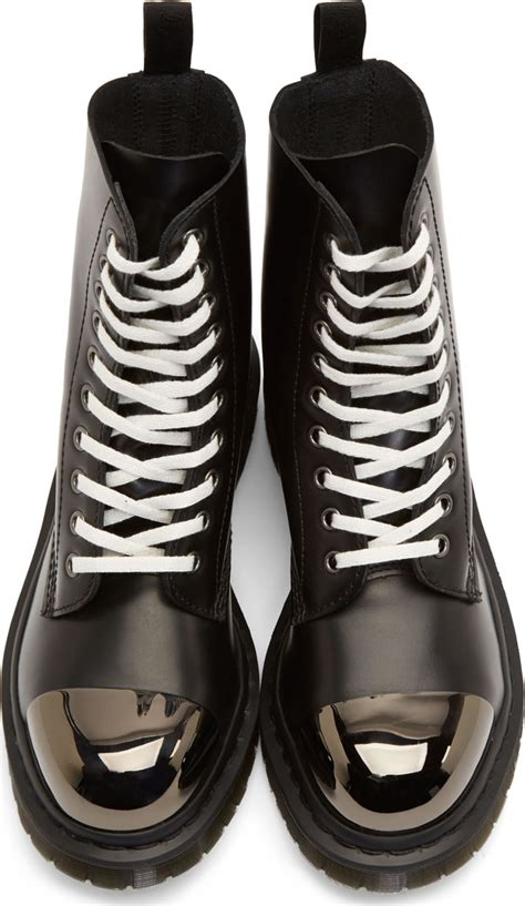 Dr Jart Pull Out Black White lyst dr martens black leather steel toe grasp boots in
