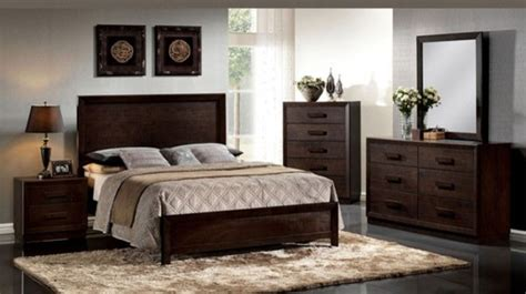 acme furniture ishanan dark merlot 5 piece queen bedroom