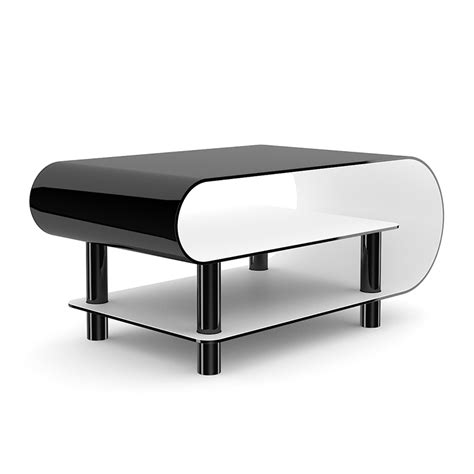 black contemporary coffee table modern black glossy coffee table