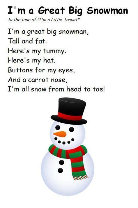 selection  winter rhymessongs preschool christmas