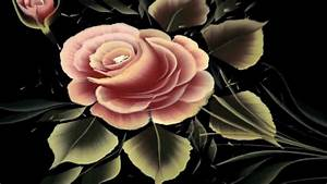 pinceladas pintura decorativa rosas con julius pincel