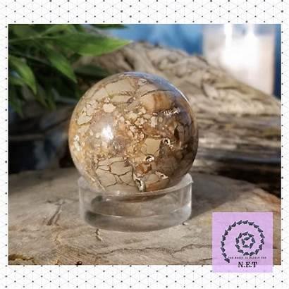 Ibis Jasper Sphere I15 Globe Snow Naturalearthtreasure