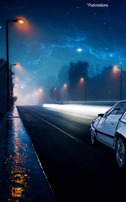 Future Delorean Illustration Iphone Background Wallpapers Phone