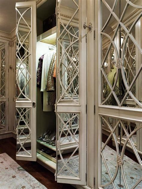 mirrored doors contemporary closet traditional home