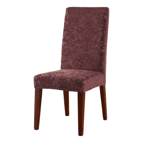 sure fit furniture covers stretch jacquard damask dining room chair cover