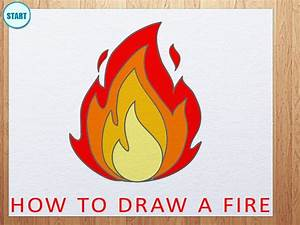 How to Draw a Fire | How to Draw Flame - YouTube