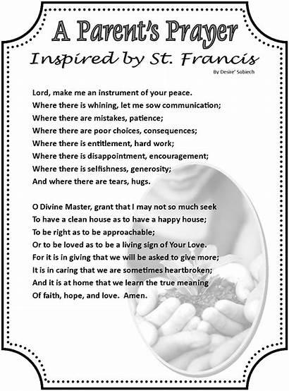 Prayer Parent Parents Prayers Francis St Parenting