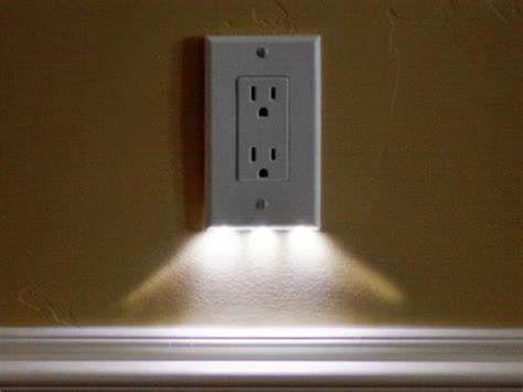 outlet plate night light led outlet cover snaprays guidelight pro tool reviews
