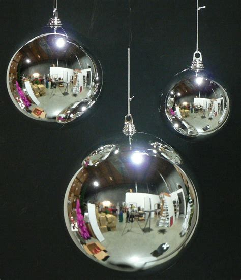 places that sell big christmas lutside balls 8 large silver 200mm plastic 8 quot diam outdoor ornaments ebay