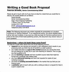 book proposal template 16 free sample example format With writing a book template word