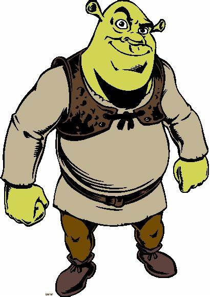 Clipart Shrek Ogre Donkey Fiona Cartoon Clip