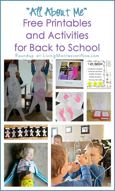 quot all about me quot free printables and activities for back to school