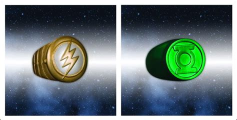 flash with green lantern ring brightest day lantern rings how to get them all actionfigurepics