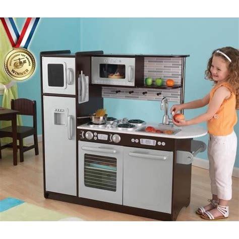 cuisine kidkraft occasion kidkraft cuisine enfant en bois uptown expresso 3606507142648 achat vente dinette cuisine