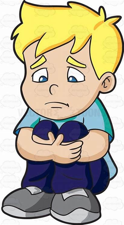 Sad Boy Clipart Child Feel Making Cartoon