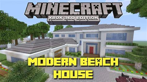 minecraft xbox  modern beach house miami style house tours  danville episode  youtube