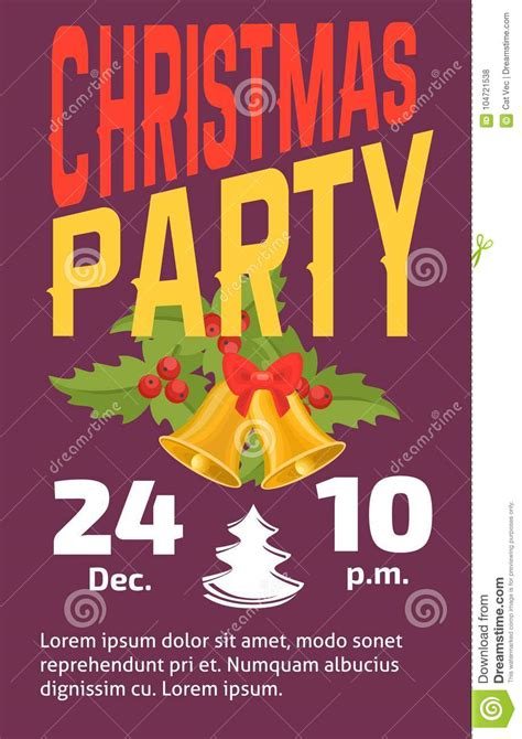 Christmas Party Invitation Vector Card Background Design