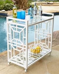 outdoor bar cart Tasmin Chinoiserie Bar Cart - Traditional - Outdoor Serving Carts - by Horchow