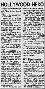 June 1 1971 Audie Murphy