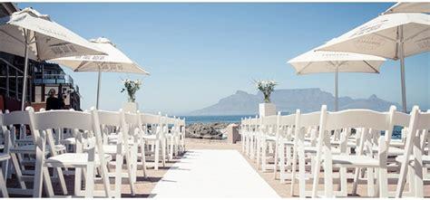 rocks beach wedding venues western cape wedding