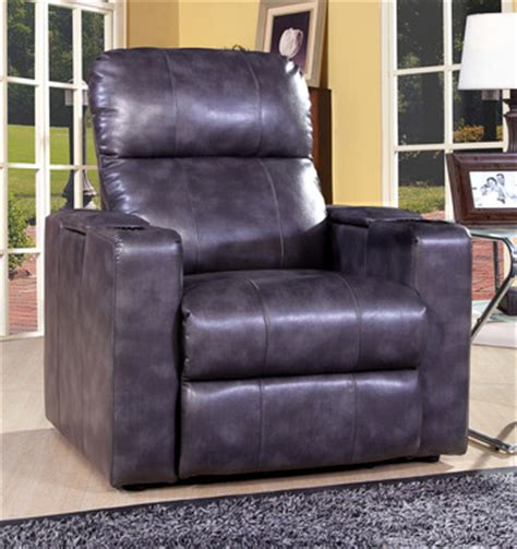 larson home theater recliner in magnetite grey bonded