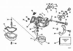 Evinrude Carburetor Parts For 1980 4hp E4wcss Outboard Motor