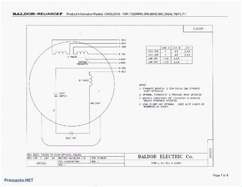 Baldor Single Phase Motor Wiring Diagram Free