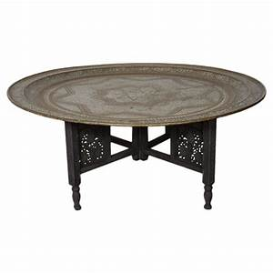 moroccan round brass tray coffee table at 1stdibs With round metal tray coffee table