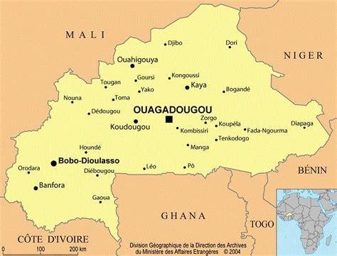 Carte du Burkina Faso - Plusieurs carte du pays d'Afrique