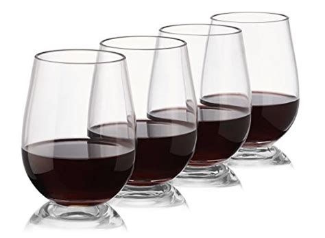 Not Made Of Glass Tritan Plastic Stemless Wine