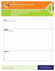 health promotion evaluation plan template edit print With health promotion plan template